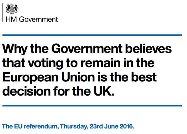 Government EU Leaflet 2016
